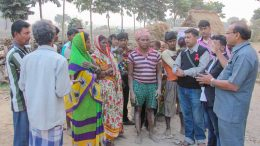 Doctors and members of a social organisation in an awareness drive against consumption of hooch in Santipur
