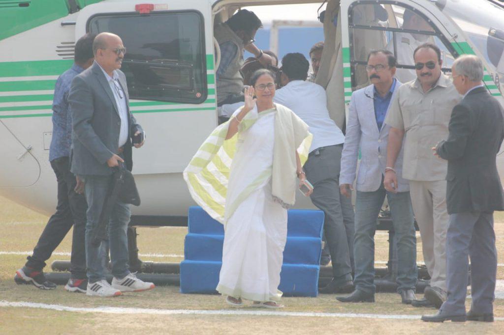 Chief Minister Mamata Banerjee in Habibpur near Ranaghat