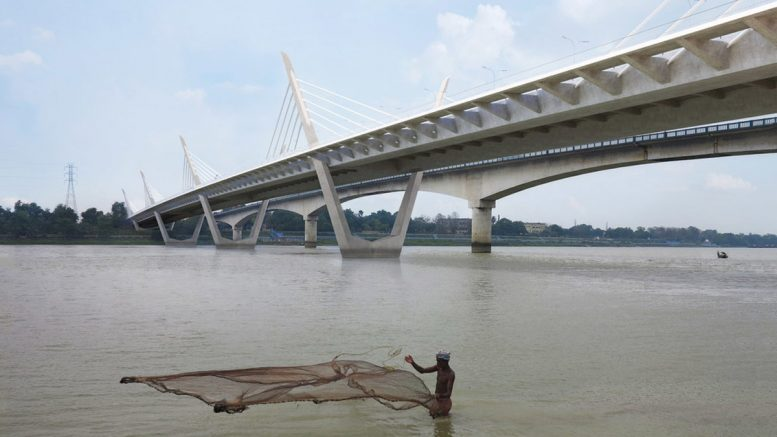 Artiste's impression: New second Ishwar Gupta bridge with extradosed cable stayed technology