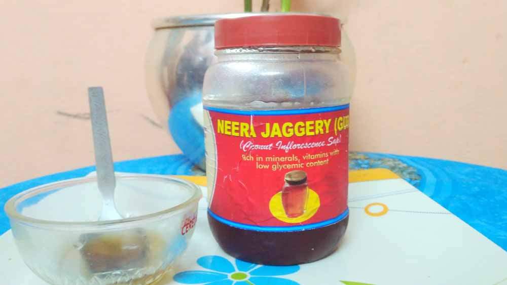 Neera coconut jaggery made of coconut nectar