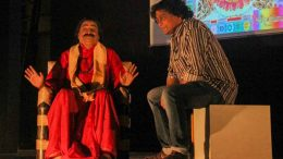 Dr. Shilanjan Bhattacharyya as Sankha Maharaj and Dr. Ayan Banerjee as Dr.Sreejon Dutta in the play 'The Uncertainty of Principles'
