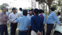 Flipkart officials at the project land in Haringhata on Tuesday