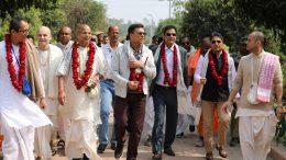 Sajjan Jindal at the Iskcon premise in Mayapur