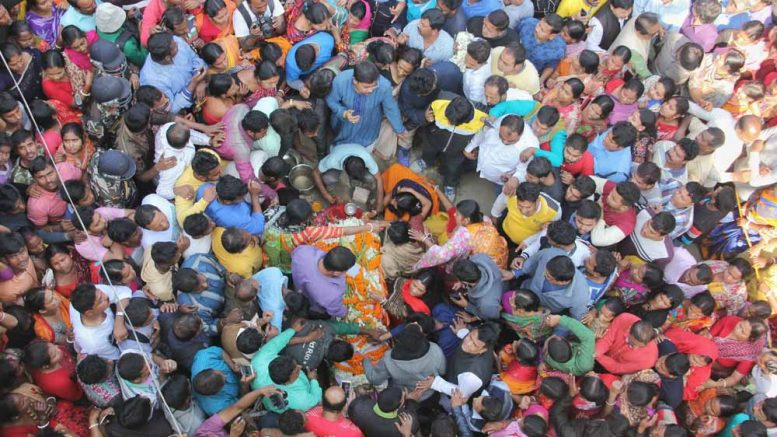 Body of the slain MLA Satyajit Biswas reached home