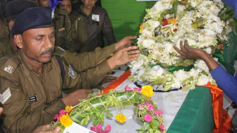 Mortal remains of CRPF jawan Sudip Biswas arrived