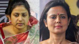 Two Trinamul Candidates: Rupali Biswas (Ranaghat) and Mahua Moitra (Krishnanagar)