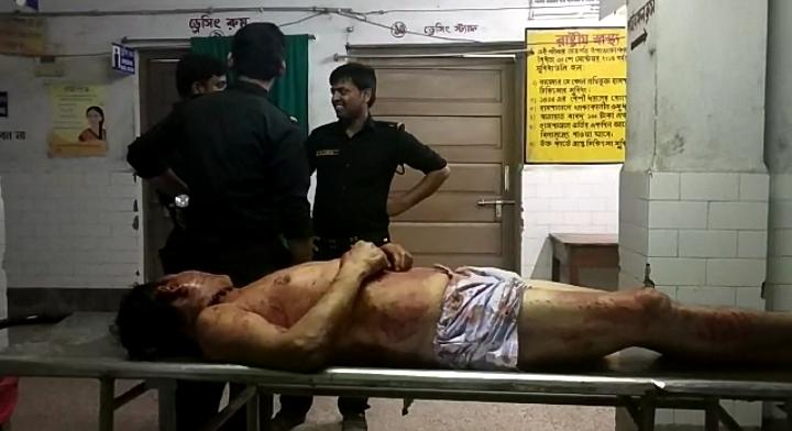 Body of Asutosh Biswas at Bethuadahari Block Hospital