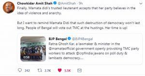 Amit Shah's Tweet
