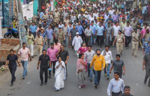 Mamata walks in Krishnanagar