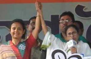 Mohua Moitra with Mamata Banerjee