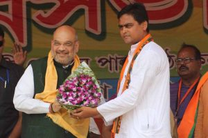 Amit Shah with Santanu Thakur