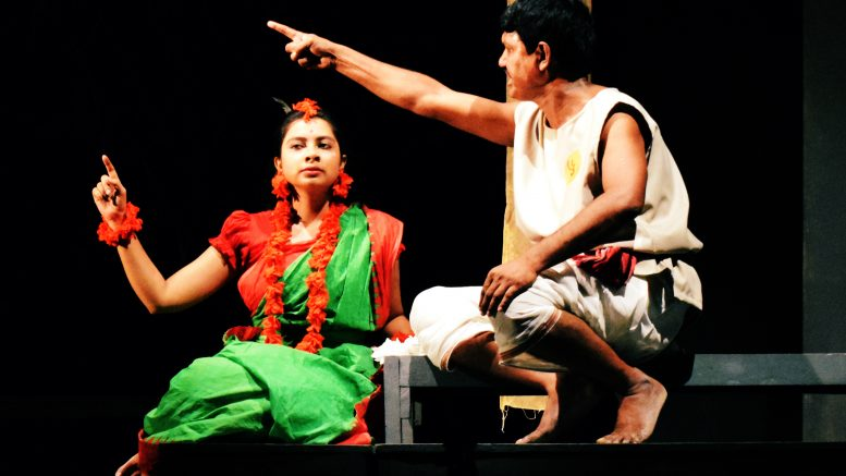 A scene from 'Raktakarabi' staged by the inmates in Krishnanagar