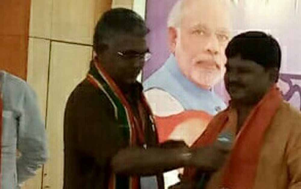 BJP's Bengal president Dilip Ghosh welcomes Bankim Ghosh to party
