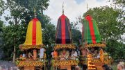 Lord Jagannath's Chariot at the Iskcon temple premise in Mayapur