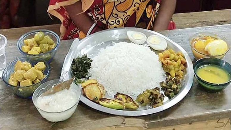 The nutritious platter which was offered to Moumita Sandhukhan only for photo op