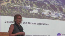 Ann Devereaux speaking at IISER-Kolkata's campus in Mohanpur.