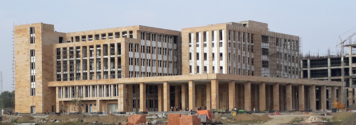 The out patient department under construction at AIIMS site in Kalyani